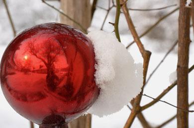 Der Schnee hinterlässt überall seine Spuren...