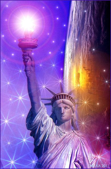 Haz un clic encima de la foto y obtendrás información metafísica de NY y La Estatua de la Libertad por Juan Carlos García