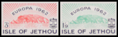Isle of Jethou: 1962 Europa imperforate proofs.