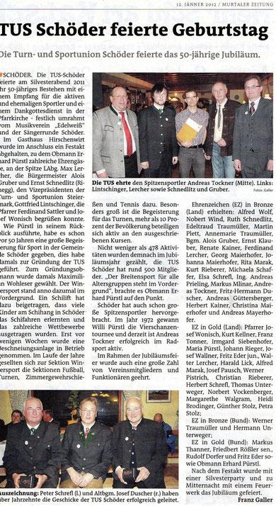 50 Jahresfeier TUS Schöder - Murtaler Zeitung