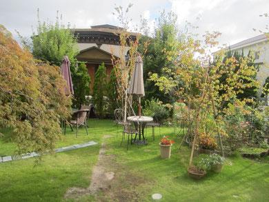 お庭も素敵でした。ところどころに夢がある^^