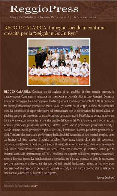 Corritalia 2011  articolo apparso su ReggioPress del 25 marzo 2011