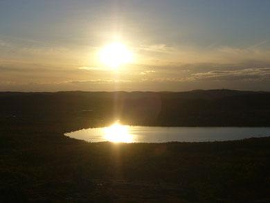 Abendstimmung mit Blick auf Kirkenes
