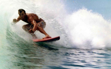 Gary in Sri Lankan barrel, 1985