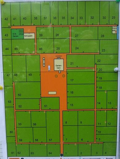 Plan unserer Gartenanlage