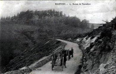 LA ROUTE DE LA CHANSELVE VERS LE CHATEAU 1910