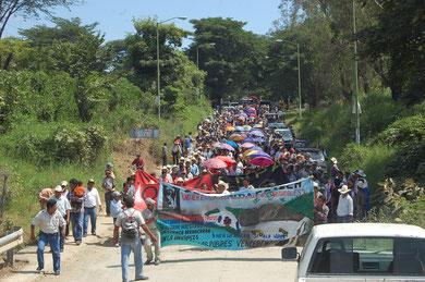 Marcha OCEZ-CNPA en Chicomuselo.