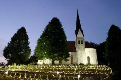 ドイツ村の教会にて Photo By 白鳥保美