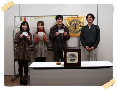 市川スマイルトーストマスターズクラブ第54回例会 受賞者