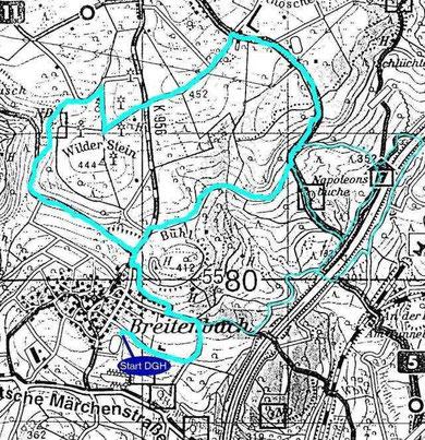 Route Wilder Stein