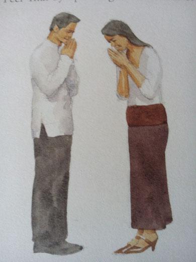 thailändische Begüßung
