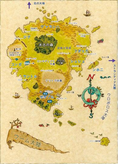 探検家プリンゲルが作成した地図。