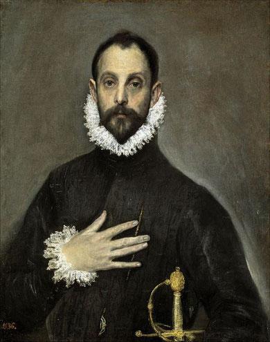 Самые известные картины Эль Греко - Рыцарь с рукой на груди