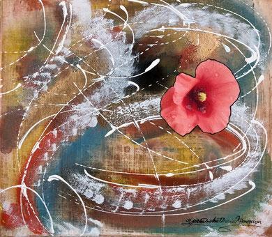 「花の命」色紙大