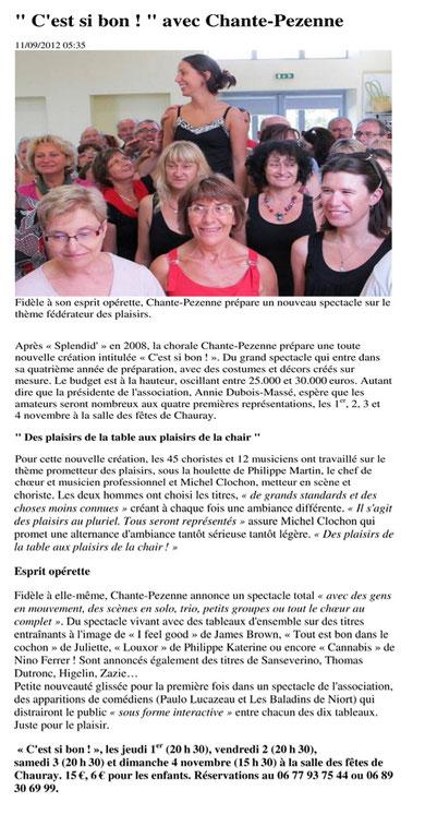 Nouvelle République - Mardi 11 Septembre 2012