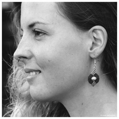 le temps des cerise boucles d'oreille macramé graine