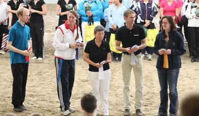 Mannschaftsführer  bei der Länderehrung, 3. Platz für Rheinland-Pfalz