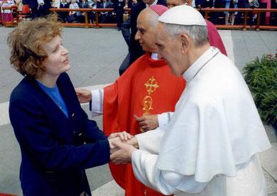 Papa Franjo i Michelle Moran