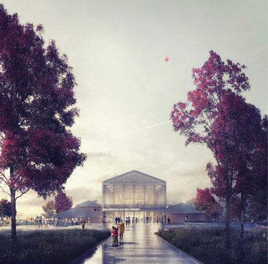 Kulturhaus auf der Freiheit Landestheater Schleswig Städtebaulicher Wettbewerb 2019 Herr & Schnell Architekten Manuel Nagel Daniel Bernthaler