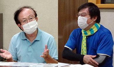 小泉さん(左)と横溝憲正さん
