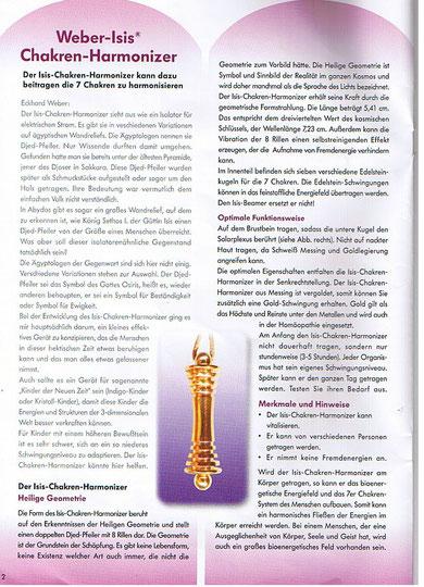 Weber-Isis Chakren Harmonize