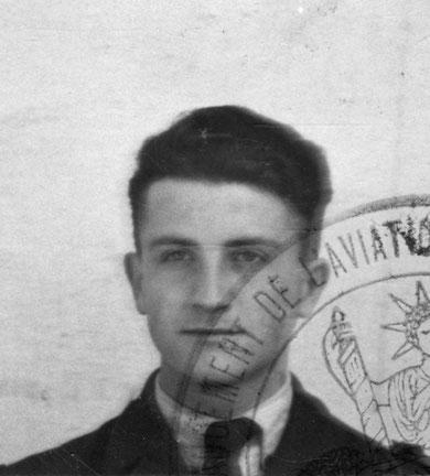 André Esquilat 1943 photo ordre de mission pour Angleterre Collection SHD Air Vincennes