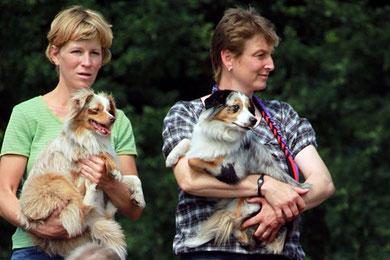30.06.2012 - Ausschnitt aus dem Gruppenbild - rechts: Steffi mit Blue, links Foxi und ich (Danke an Peggy für das Foto!)