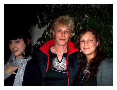 Annika links, Luisa rechts von mir