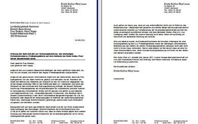 Offener Brief an die Bauordnung Hannover