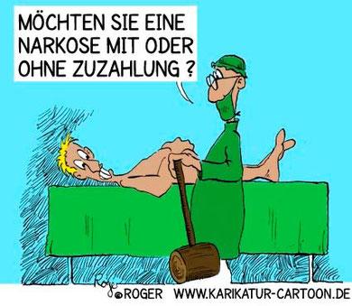 Cartoon Narkose