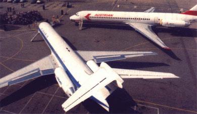 Die ersten zwei MD-87-Betreiber/Courtesy: McDonnell Douglas