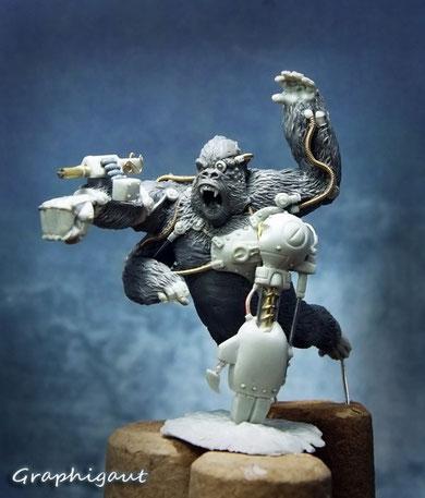 """""""Chee-Chee"""" Huge Gorilla Infamy Miniatures"""