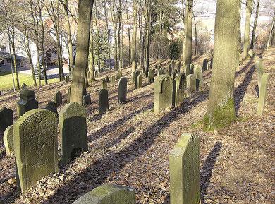 Auf dem ältesten Teil des jüdischen Friedhofes in Burghaun