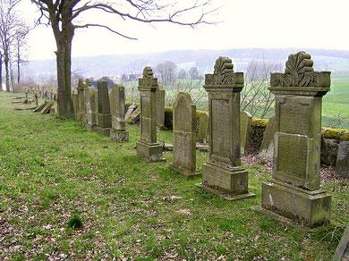Auf dem jüdischen Friedhof in Wehrda