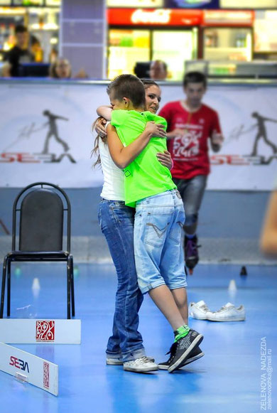 Sergey and Angelika after winning the 2014 Rollerclub Cup. Credit: Zelenova Nadezda