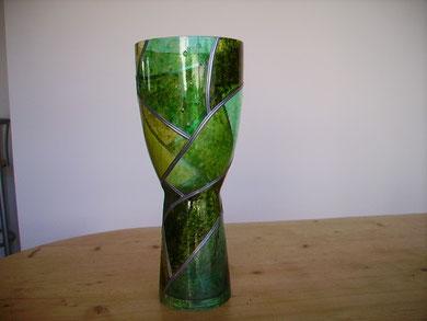 Vase haut vert - 40 cm env.