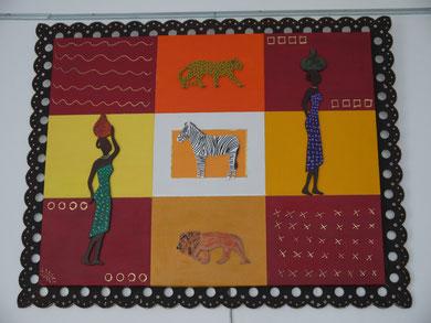 LA SAVANE & SES AFRICAINES - Réf. N° 5 - Réalisation: Home Déco - R.T - 70x90 - PRIX: 110 euros