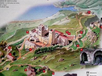 Die Umgebung des Klosters (aus: Prospekt des Museu d´Historia de Catalunya)