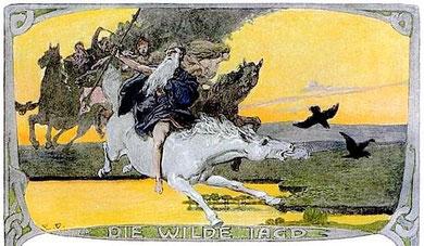 Odin und Brynhild - Konrad Dielitz 1892