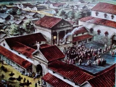 """So könnte es auf einem römischen Forum/Kapitol in der """"Provinz"""" zugegangen sein (Bild: Droemer/Knauer, Die Welt der Antike)"""