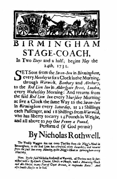 A stage-coach advert