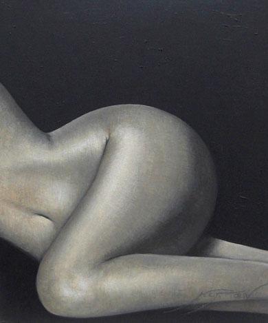 Desnudo de nalgas, piernas y vientre - 54 x 65 cm