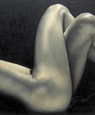 Desnudo de trasero, nalgas y vientre - 60 x 73 cm