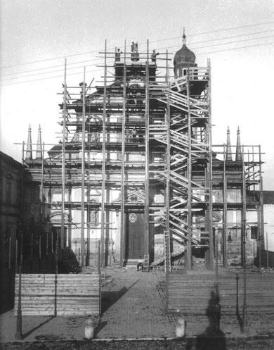 Restauro della Chiesa di San Giorgio Martire a Trecenta - Impresa Ghiotti Luigi - Anno 1935