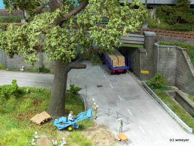 Arbeiten im Schatten der großen Recycling - Eiche