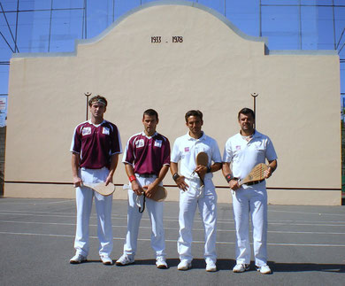 L'équipe de Benesse ; Antoine ; Stéphane ;  18 juillet 2009 - fronton de Tosse