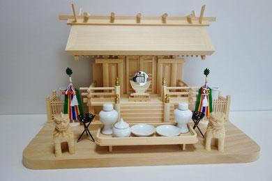 天神一社(木曽檜製)+神棚板(台湾桧製)+神具セット