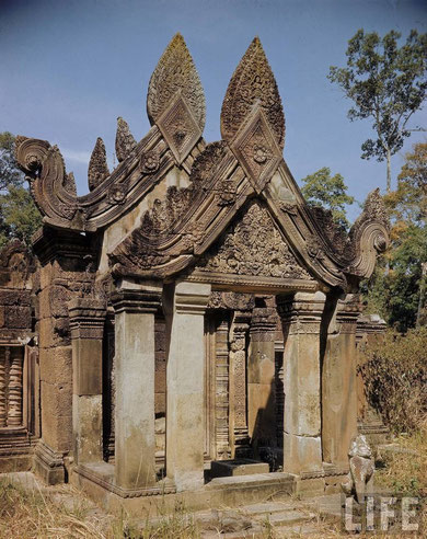 Templo Banteay Srei, año 1949.
