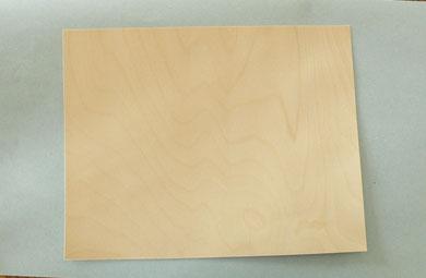 Feuille de bois en bouleau, 0,02 mm.