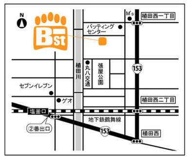 B-ST 地図 愛知県名古屋市天白区植田西2-208